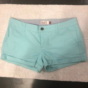 So Shorts Mint Green Size 7